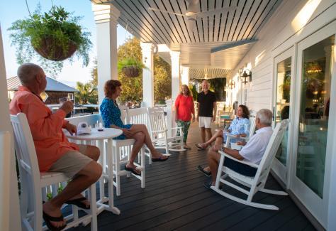 The Inn at Bald Head Island porch