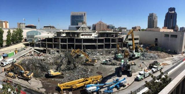 Downtown Sacramento Arena Demolition Photo for ESC Entertainment Sports Complex