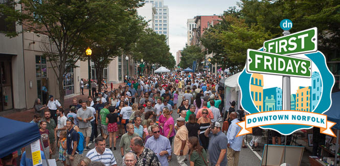 First Fridays on Granby Street in Downtown Norfolk