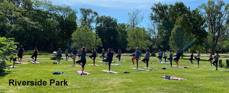 Yoga in Riverside Park
