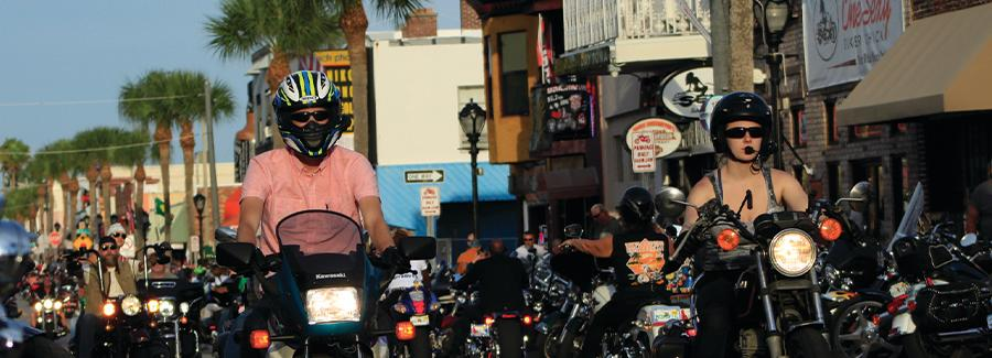 Motorcycle riders make the annual pilgrimage to Main Street during Biketoberfest