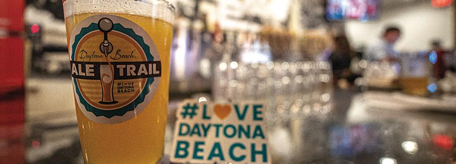 Daytona Beach Ale Trail craft beer and #LoveDaytonaBeach sticker