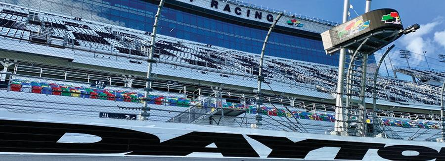 Daytona International Speedway offers year round track tours for up close looks at the World Center of Racing