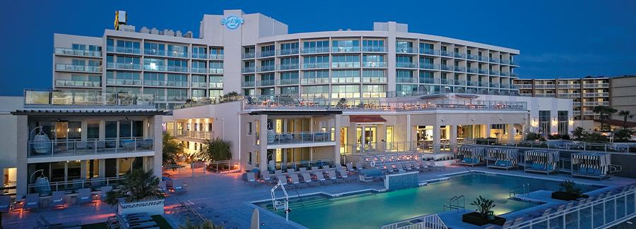 Located on the beachfront, Hard Rock Hotel Daytona Beach is a popular place to go for live music