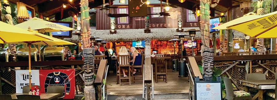 Grind Gastropub and Kona Tiki Bar is a trendy spot to dine in Ormond Beach's Arts District