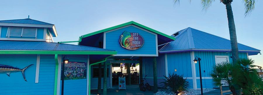 Off the Hook at Inlet Harbor is a restaurant in Ponce Inlet