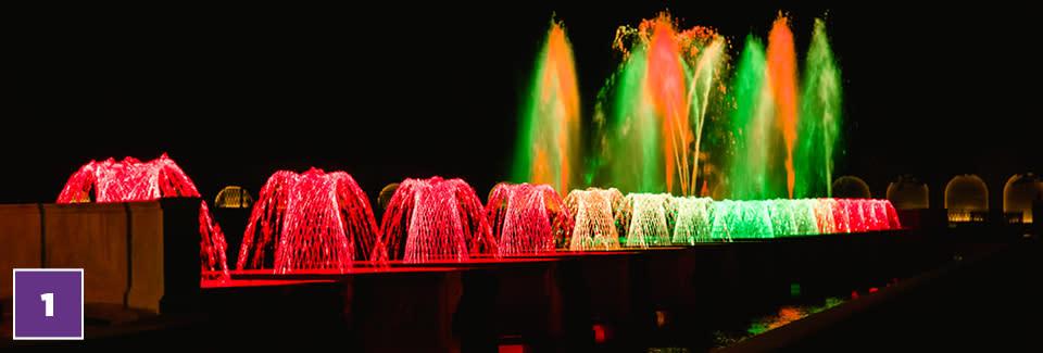 Longwood Illuminated Fountains