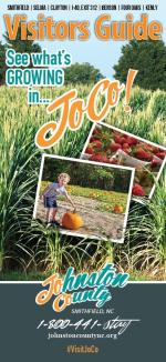 The cover of the 2020 Visitors Guide highlighting the agriculture growing in Johnston County, NC.