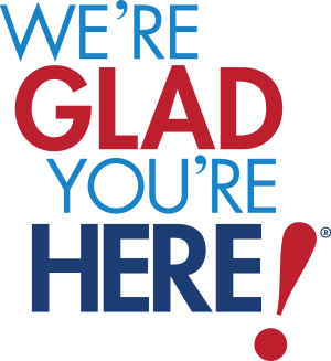 We're Glad You're Here Logo