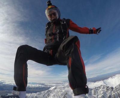 Skydiver Posing