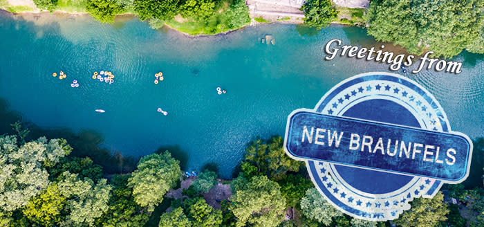 Greetings from New Braunfels postcard