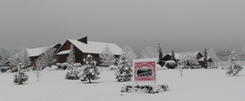 Benton-Lane Winery in Snow