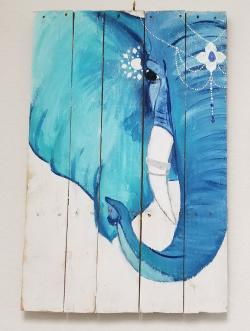 """""""Elephants"""" painting by Gemini Crafts"""