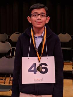 Christopher Serrao, Champion of the Regional Spelling Bee