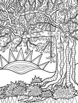 Lynne Medsker Coloring Sheet - Sunrise