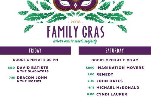 Family Gras 2018 Lineup