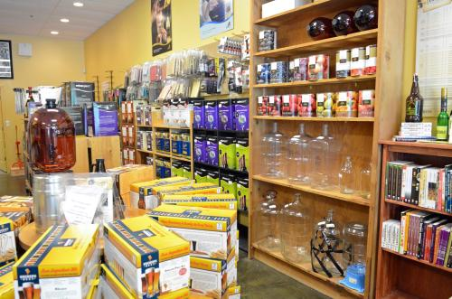 Beer and Wine Craft interior aisle with beer making equipment