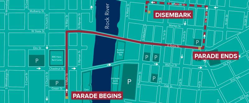 2019 SOS parade route map