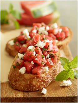 Watermelon Feta Bruschetta