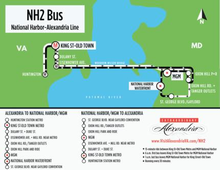 NH2 National Harbor Alexandria Map
