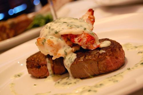 Capital Grille Tenderloin with Lobster Tails