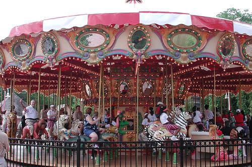 People on the Zoo Carousel