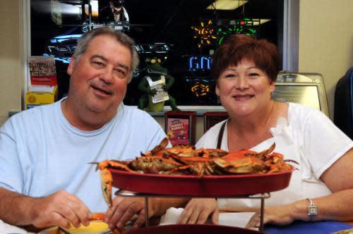 Couple Enjoy Perrino's Seafood