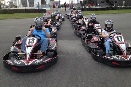 Racers in Go Karts at NOLA Motorsports