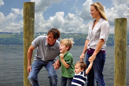 Family Fun on the Dock