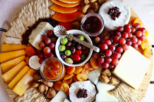 A nice spread on a cheese plate
