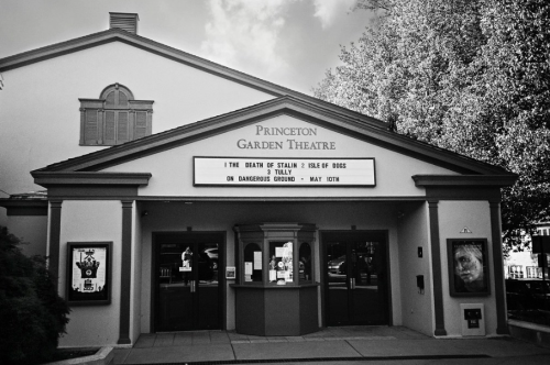 a front view of the entrance to the Princeton Garden Theater