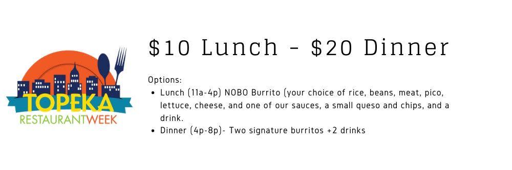 NOTO Burrito - TRW 2020 Menu