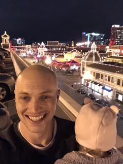 Kansas City Plaza Lights Selfie