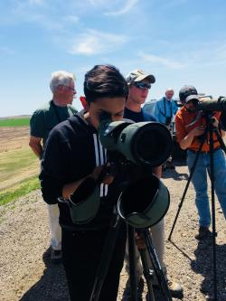 Young Kansas Birding Photographer