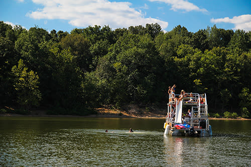 swimming Monroe Lake