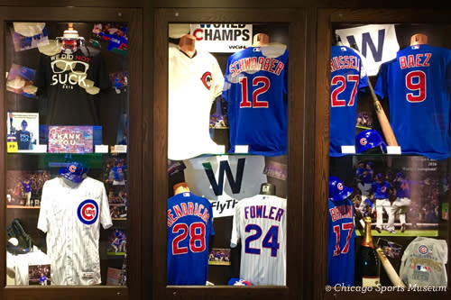 Chicago Cubs World Series 2016 Exhibit at Chicago Sports Museum