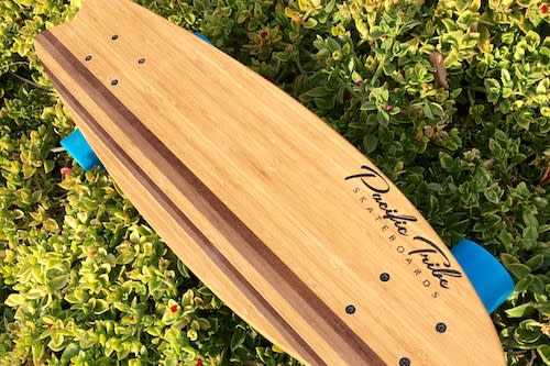 Pacific Tribe Premium Handcrafted Hardwood Longboard ($200 value)