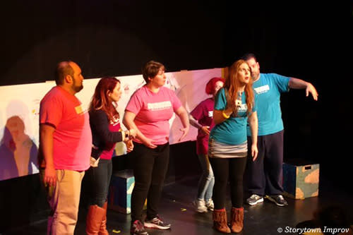 Storytown improv players on stage