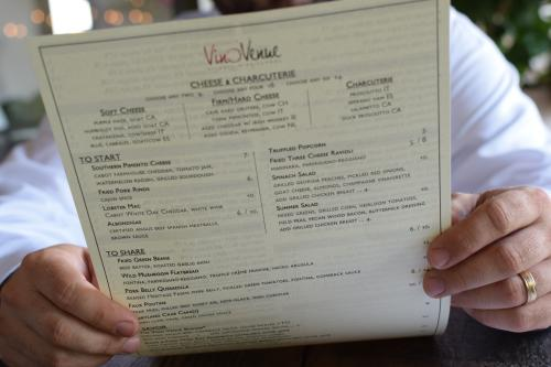 Vino Venue New Menu