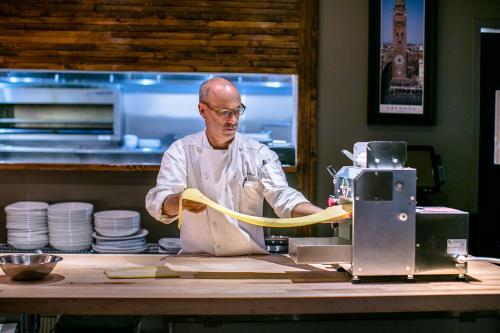 Man Making Fresh Pasta At Il Giallo