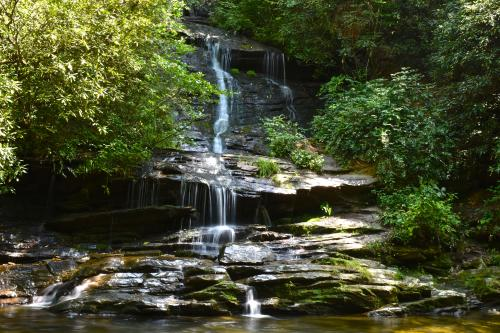 Tom Branch Falls in the Deep Creek area of Great Smoky Mountains National Park