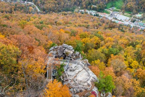 Fall color at Chimney Rock State Park near Asheville, NC