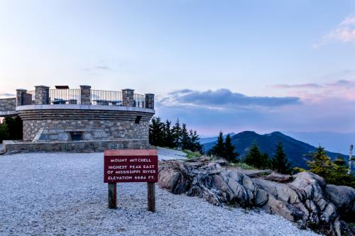 The observation deck at the summit of Mount Mitchell State Park