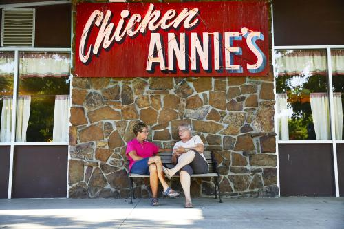 Front of Chicken Annie's Restaurant