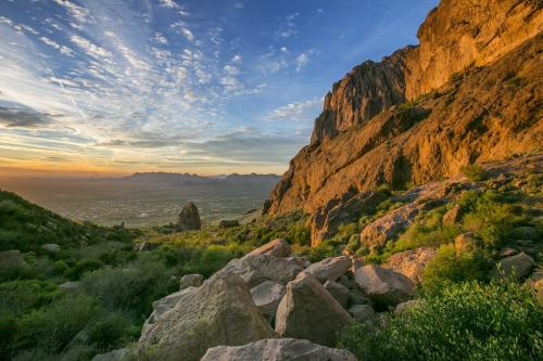 Flatiron sunset in the Superstition Mountains