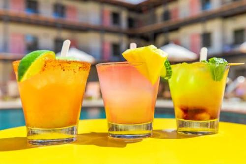 Colorful cocktails known as Texican Poptails are served at Texican Court.