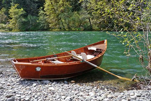 Wooden-Boat-on-McKenzie-River-by-Rick-Ob