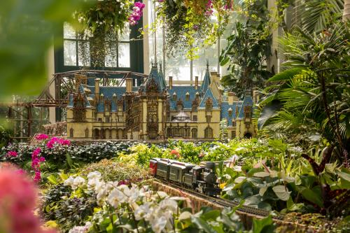 Biltmore Gardens Railway is on display summer 2019 in Asheville, N.C.