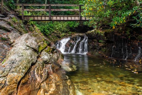 Skinny Dip Falls on the Blue Ridge Parkway near Asheville, NC