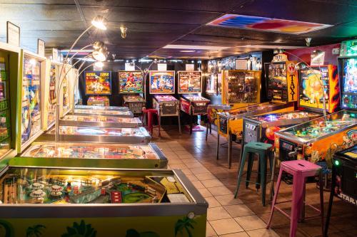 Play dozens of pinball machines at the Asheville Pinball Museum
